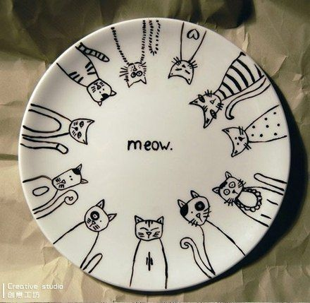 31 Ideas For Drawing Ideas Sharpie Plates #sharpieplates