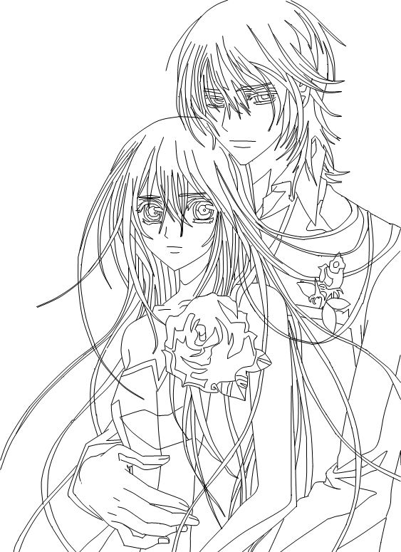 - Vampire Knight Kaname Coloring Pages