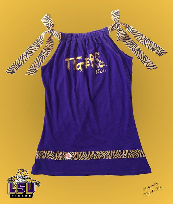 LSU Tigers Tshirt Dress by keepsakekidz on Etsy