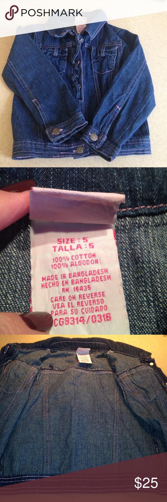 Girls lightweight denim jacket size 5 Blue denim jacket for little girls size 5, 100% cotton. EUC Jackets & Coats Jean Jackets