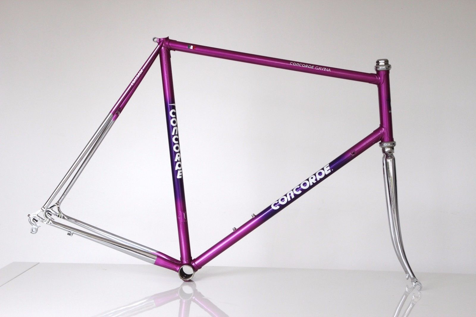 Purple Concorde Gavina Frame Made By Ciocc Columbus Sl Bike