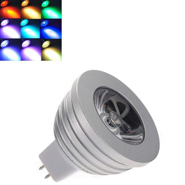 Mr16 3w Rgb Led Light Bulb With Remote Control 16 Colors 12v Led Lights Rgb Led Lights Led Light Bulb