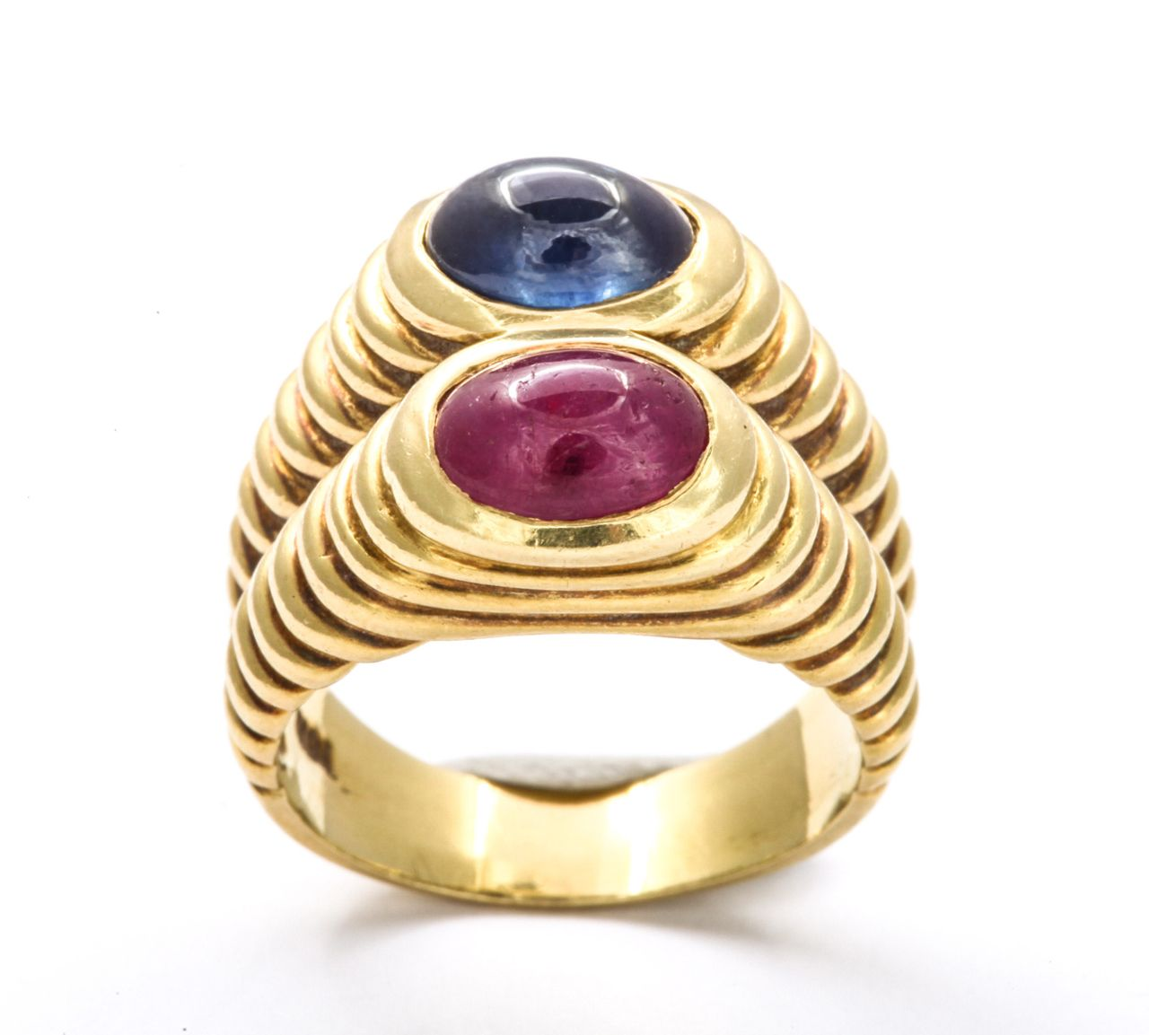 Double Band Ring of Ruby and Sapphire image 3