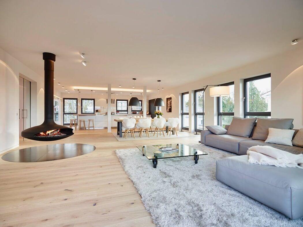 Modernes bungalow innenarchitektur wohnzimmer idées pour décorer un appartement sobre et chaleureux  penthouses