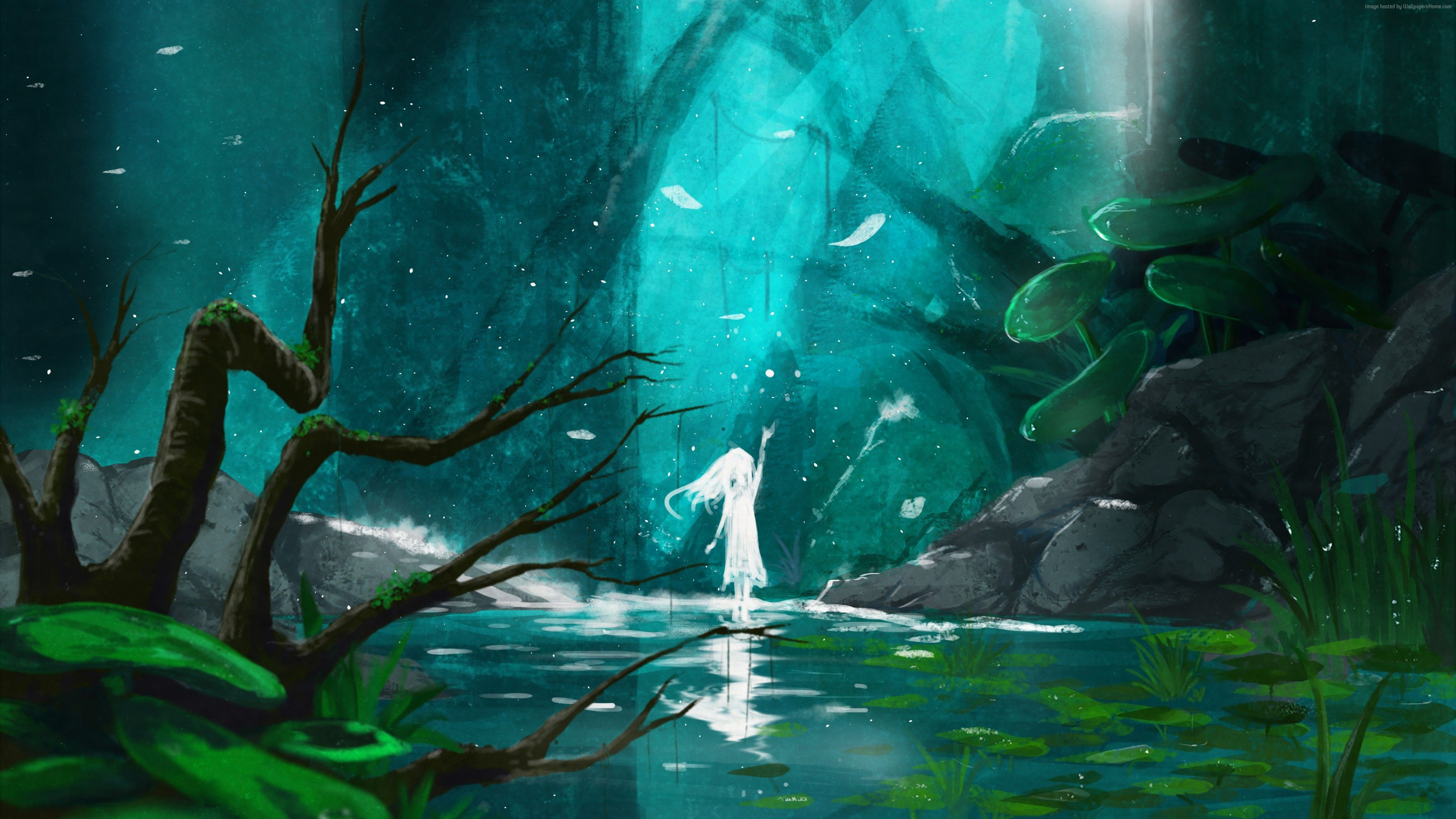 Pin By Jaime S On A Fantasy Forest Art Wallpaper Fantasy Paintings