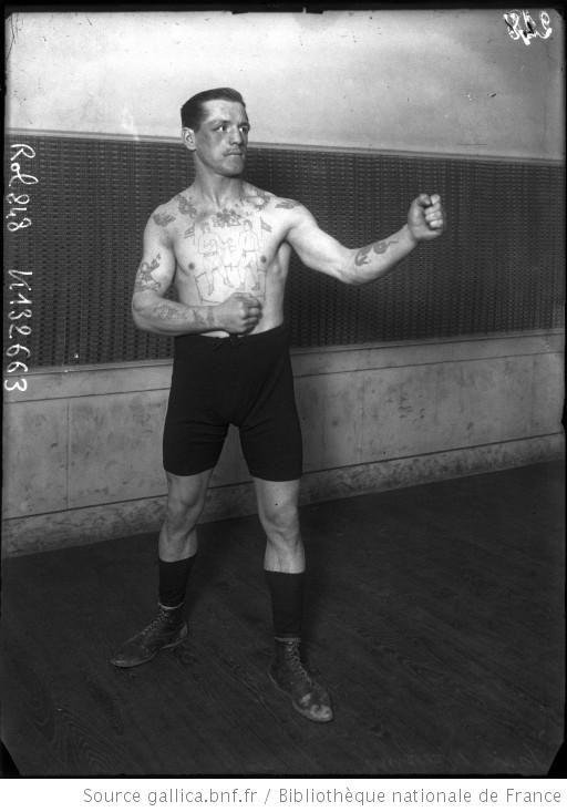Jack Meekins [boxeur tatoué] : [photographie de presse] / [Agence Rol] - 1