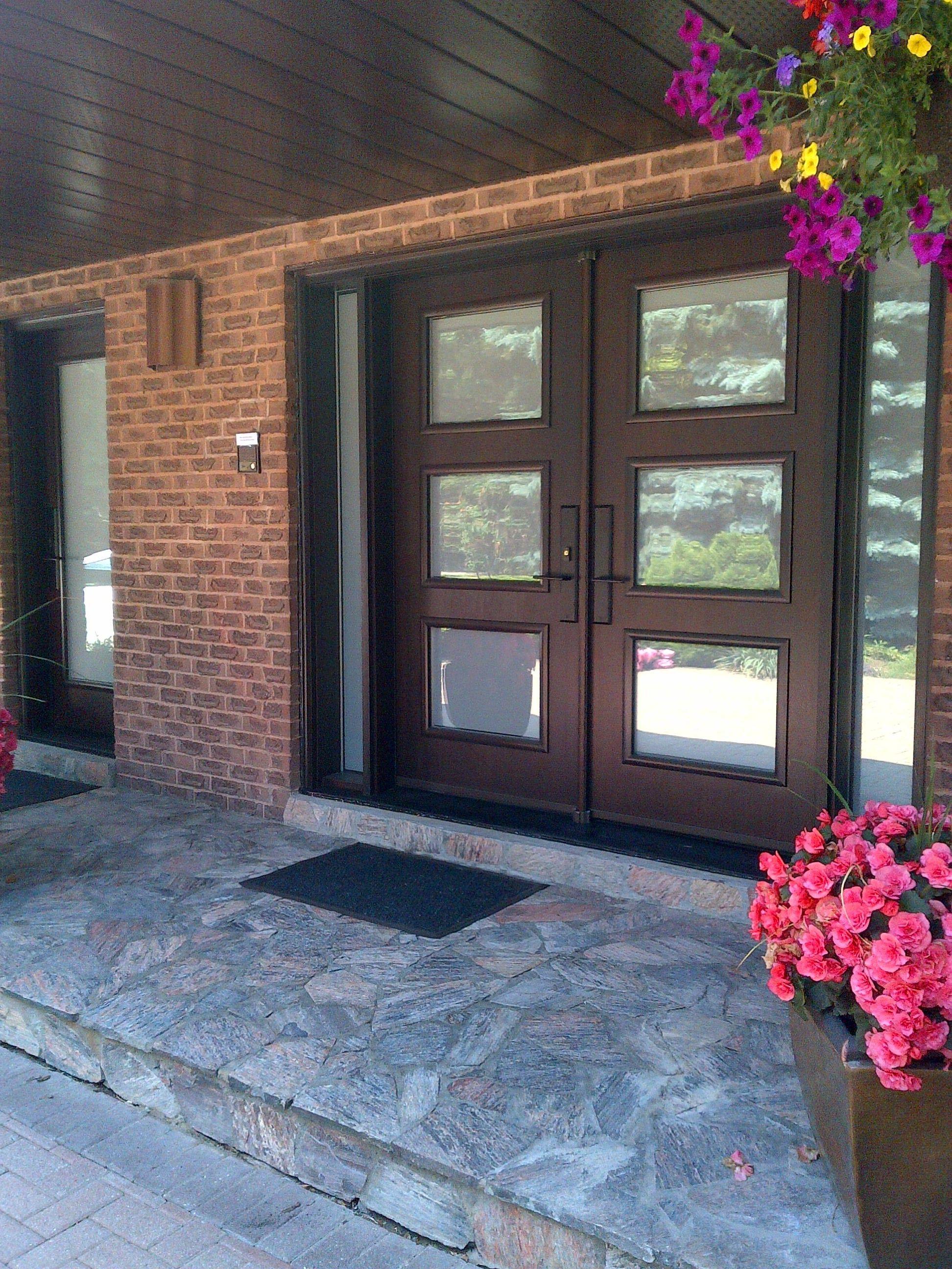 Updated exterior new fiberglass entry doors with custom glass updated exterior new fiberglass entry doors with custom glass sidelights homedecorwindowsanddoors planetlyrics Image collections