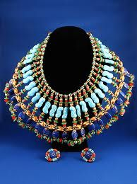 Elaborate Miriam Haskell bib necklace. c. 1970