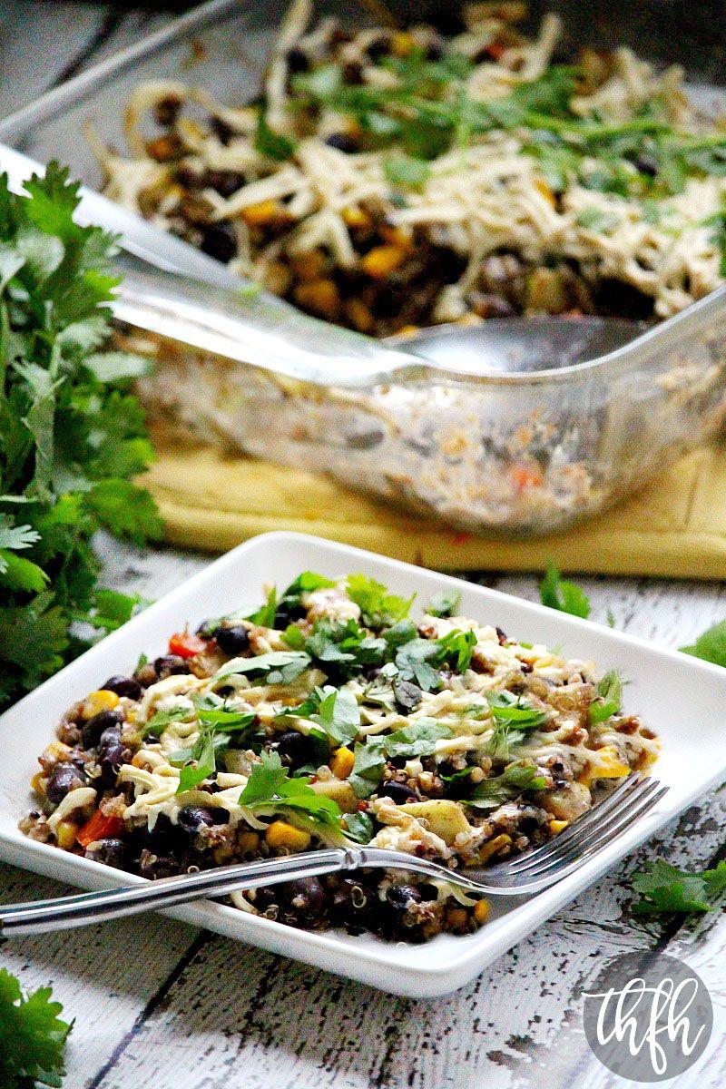 Gluten Free Vegan Southwest Quinoa Bake