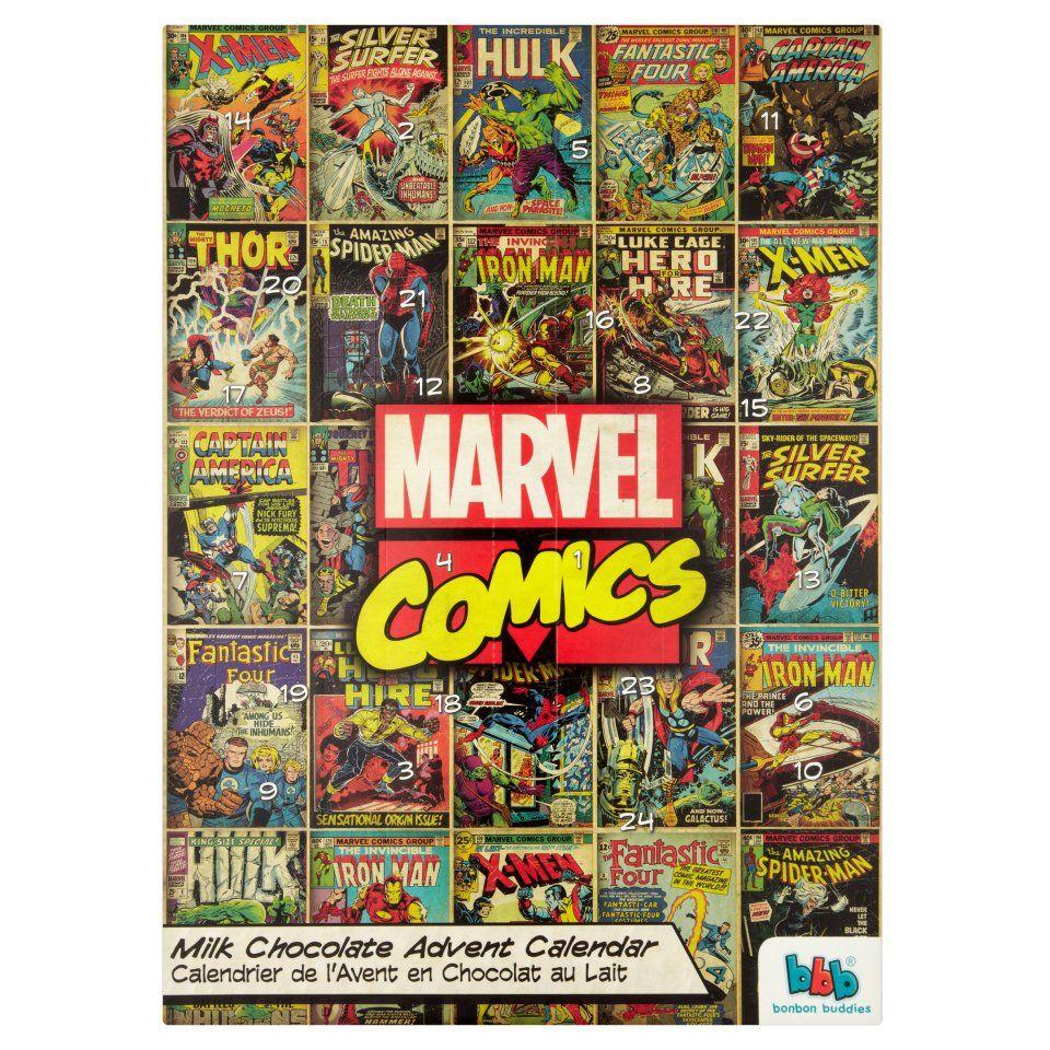 Marvel Comics Milk Chocolate Advent Calendar 65g   Advent ...
