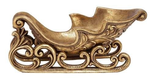 Golden Sleigh Centerpiece | Southern Inspired Decor