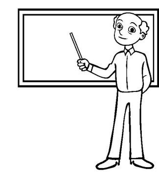 An Experienced Teacher Coloring Pages Cartoon Coloring Pages Coloring Pages For Kids Coloring Pages