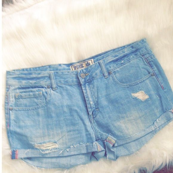 Limited edition PINK denim shorts Rare denim shorts by VS PINK. Great piece for the summer! New! never worn. PINK Victoria's Secret Jeans