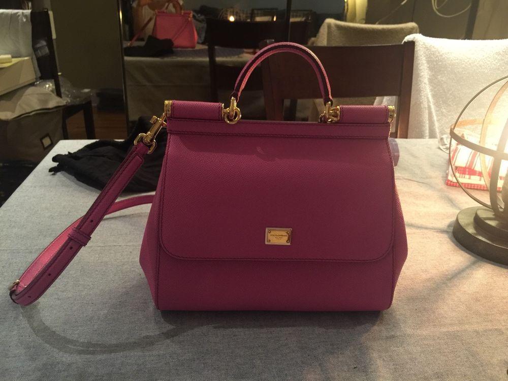 Dolce gabbana dauphine leather medium sicily handbag in pink  d03a1f6f356b4