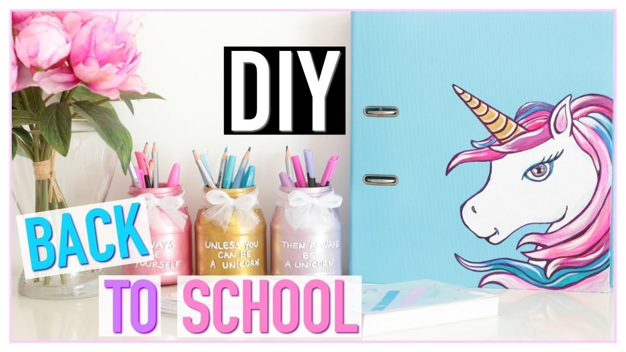 diy back to school licorne pas cher fournitures scolaires fran ais schoolgoals pinterest. Black Bedroom Furniture Sets. Home Design Ideas