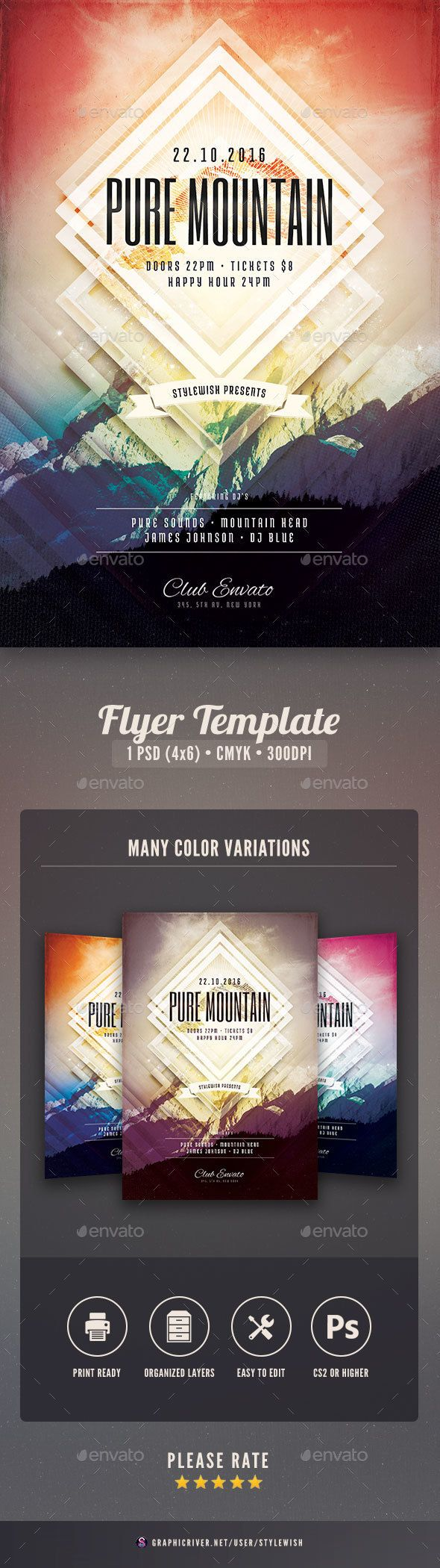 Flyer Samples Templates Entrancing Pure Mountain Flyer  Pinterest  Flyer Template Template And .