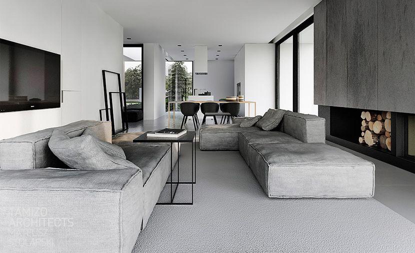 Zwart wit grijs interieur stripesandwalls home sweet home