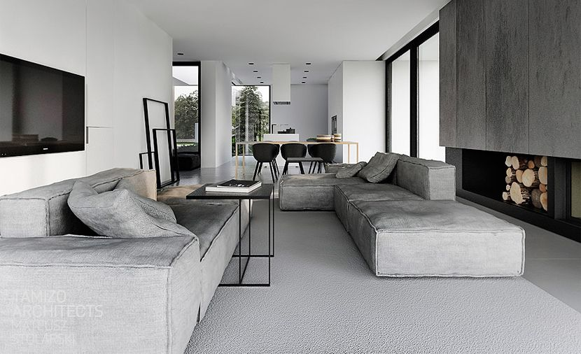 Zwart-wit-grijs interieur | Stripesandwalls.nl | Decorating ...