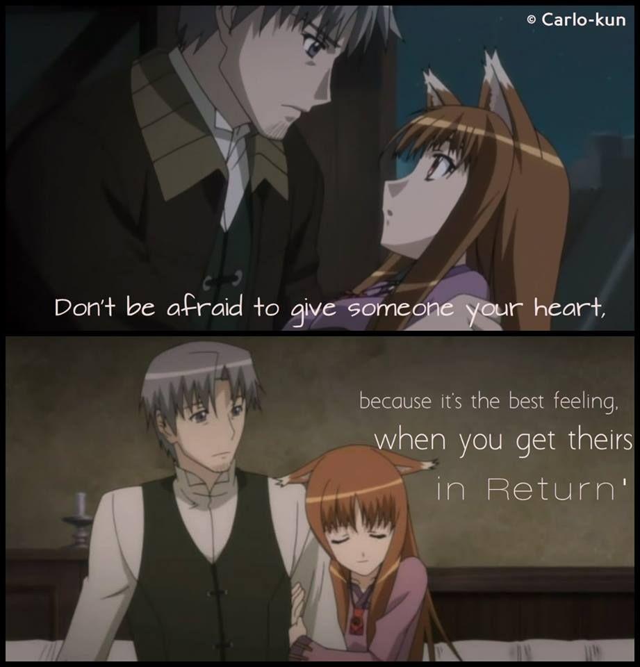 AnimeOokami To Koushinryou Spice And Wolf Anime Qoutes Manga Quotes