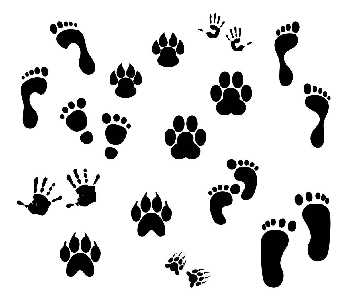 Kldezign Svg Fingerprints The Tiger Paws Could Be Useful Around