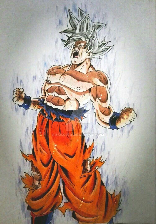 Goku ultra instinto dominado universo 7 goku dragon - Pintura instinto ...