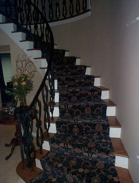 Blue Patterned Stair Runner Patterned Stair Carpet
