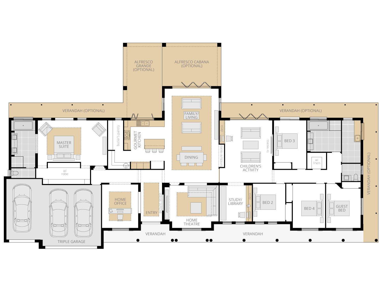Bronte Executive Grande Manor One Acreage Floor Plan Upgrade House Layout Plans Mcdonald Jones Homes House Design