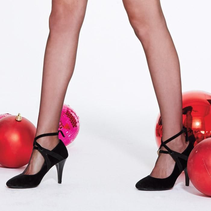 d0baf523d838a5 Cushion Walk® Sasha Velveteen Pump. Tie up these pumps and then get ready  to party the night away.