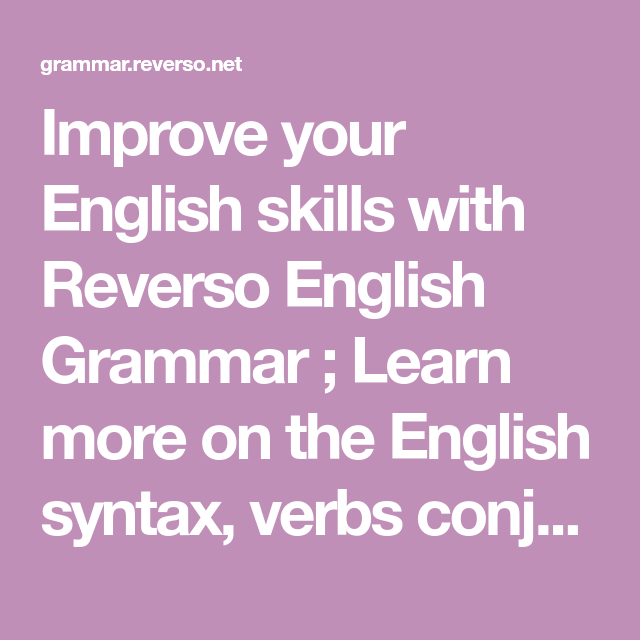 Improve your English skills with Reve… | Education