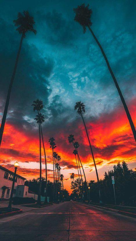 Beau Coucher De Soleil Sur Miami In 2020 Landscape Wallpaper Sunset Wallpaper View Wallpaper