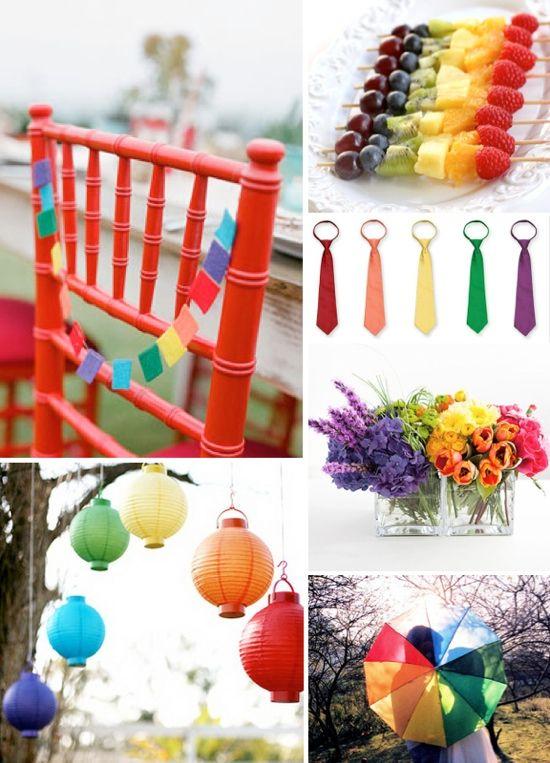 Rainbow Inspired Wedding Wedding Trends Wedding