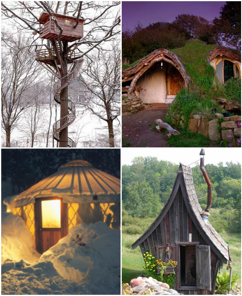 These lilttle Hobbit type houses are charming. I've always liked the idea of living in a tree house, but with all the wild weather right now, I'm no longer intrigued.