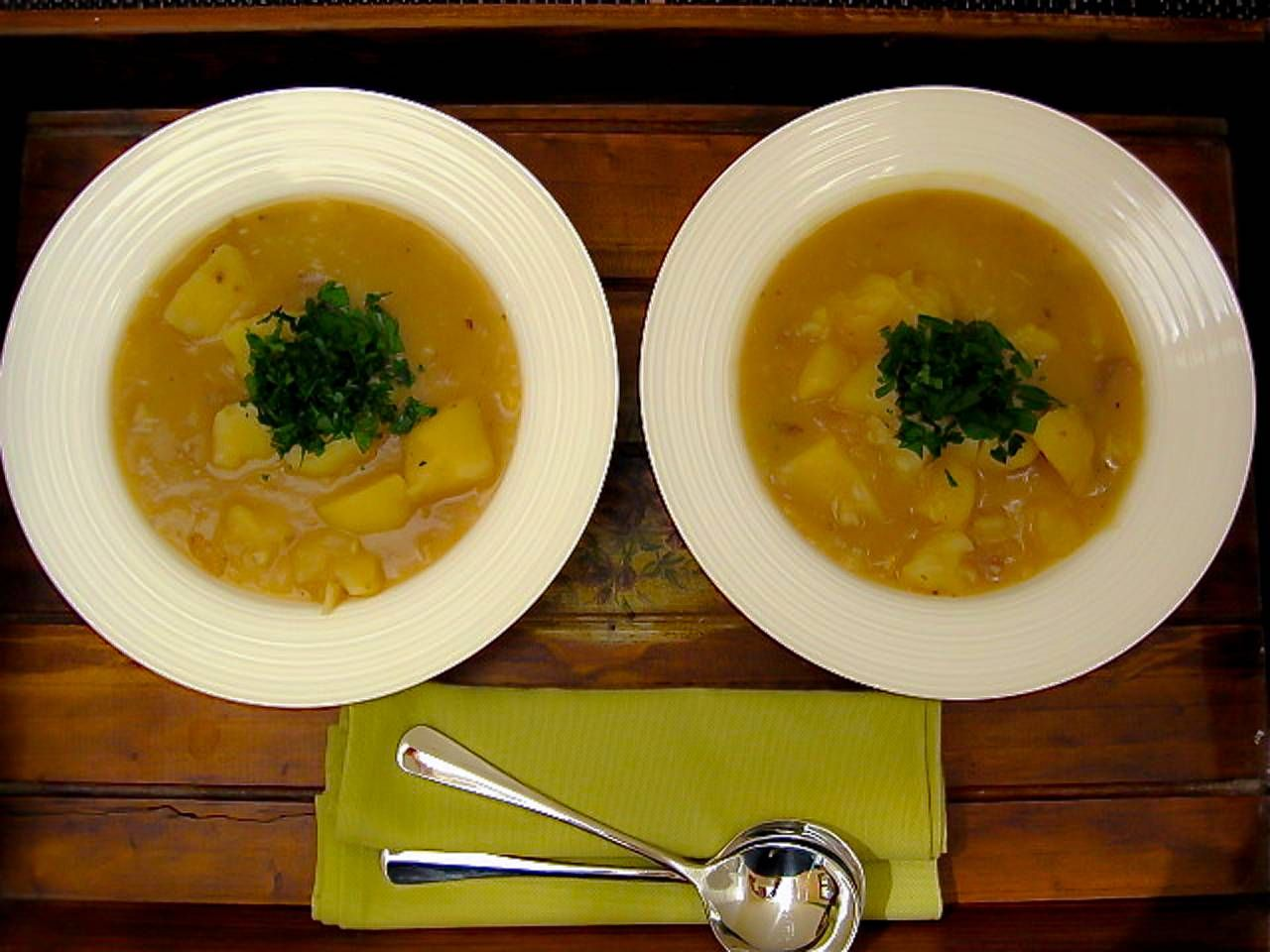 Rustic Cabbage, Potato & White Soup is hearty and healthy