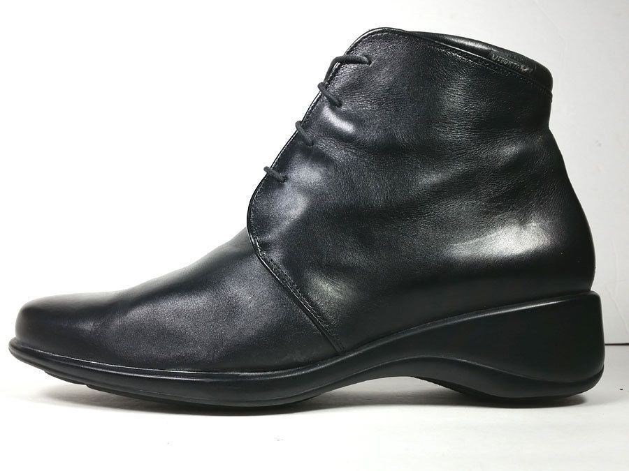$399 MEPHIST0 39 Mephisto Black Leather Ankle Boots Lace Up *PRIMO* SZ 8.5 M  #Mephisto #AnkleBoots
