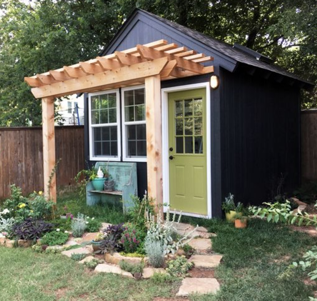 outdoor shed office. Tara Shares Her Backyard Writing Shed That She Uses As Home Office For Braid Creative. Creative Space Meetings, \u0026 Work. Outdoor