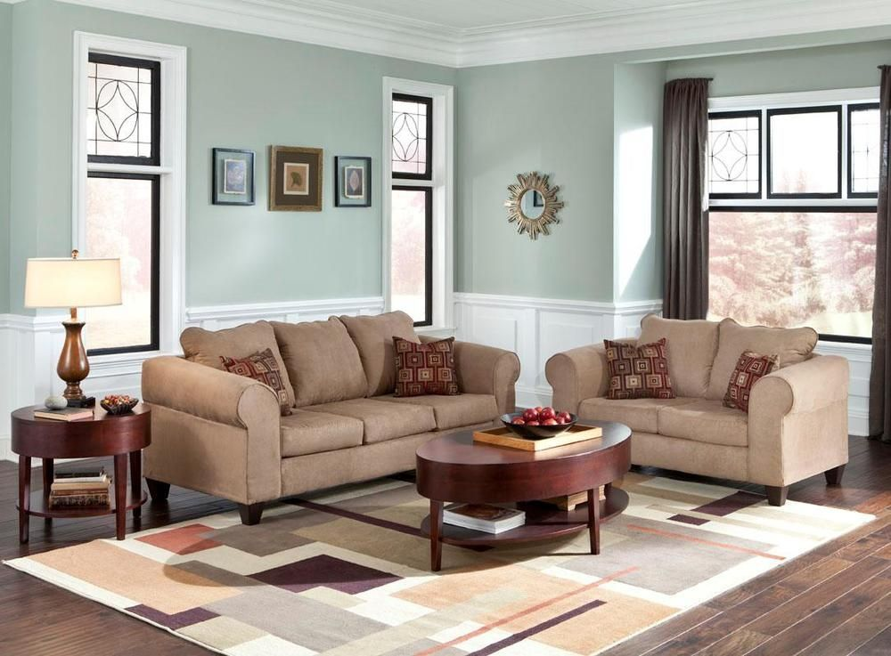 Bessey Living Room Set Taupe Sofa