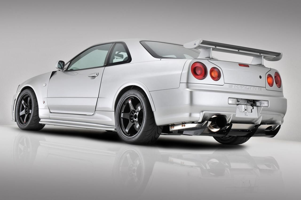 The nissan skyline gt r was built from 1999 to it won my heart when i drove it in gran turismo on playstation i would settle quite happily for an or