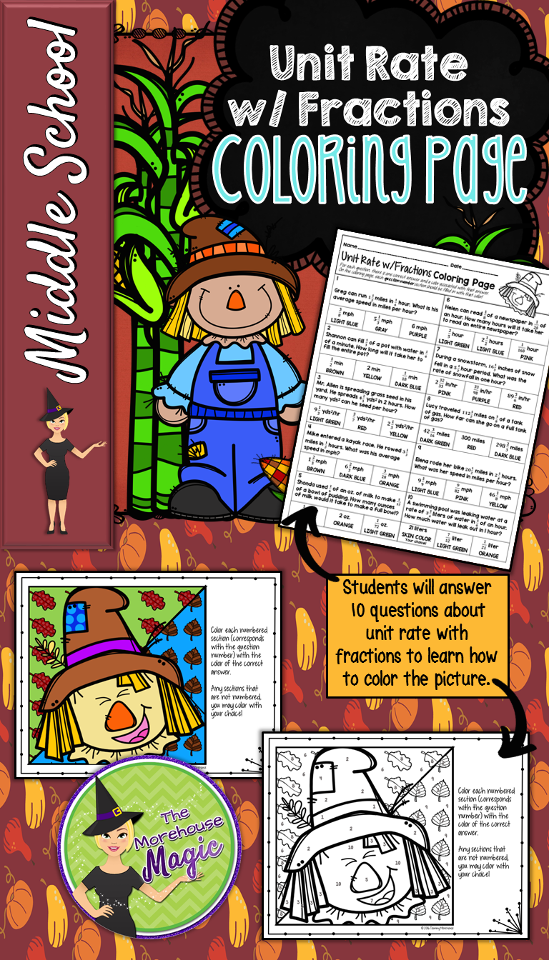 This Is A Great Fall Or Autumn Math Activity For Middle School Students To  Finding Unit