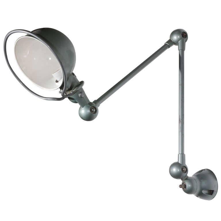 Vintage Jielde Factory French Industrial Metal Lamp #frenchindustrial