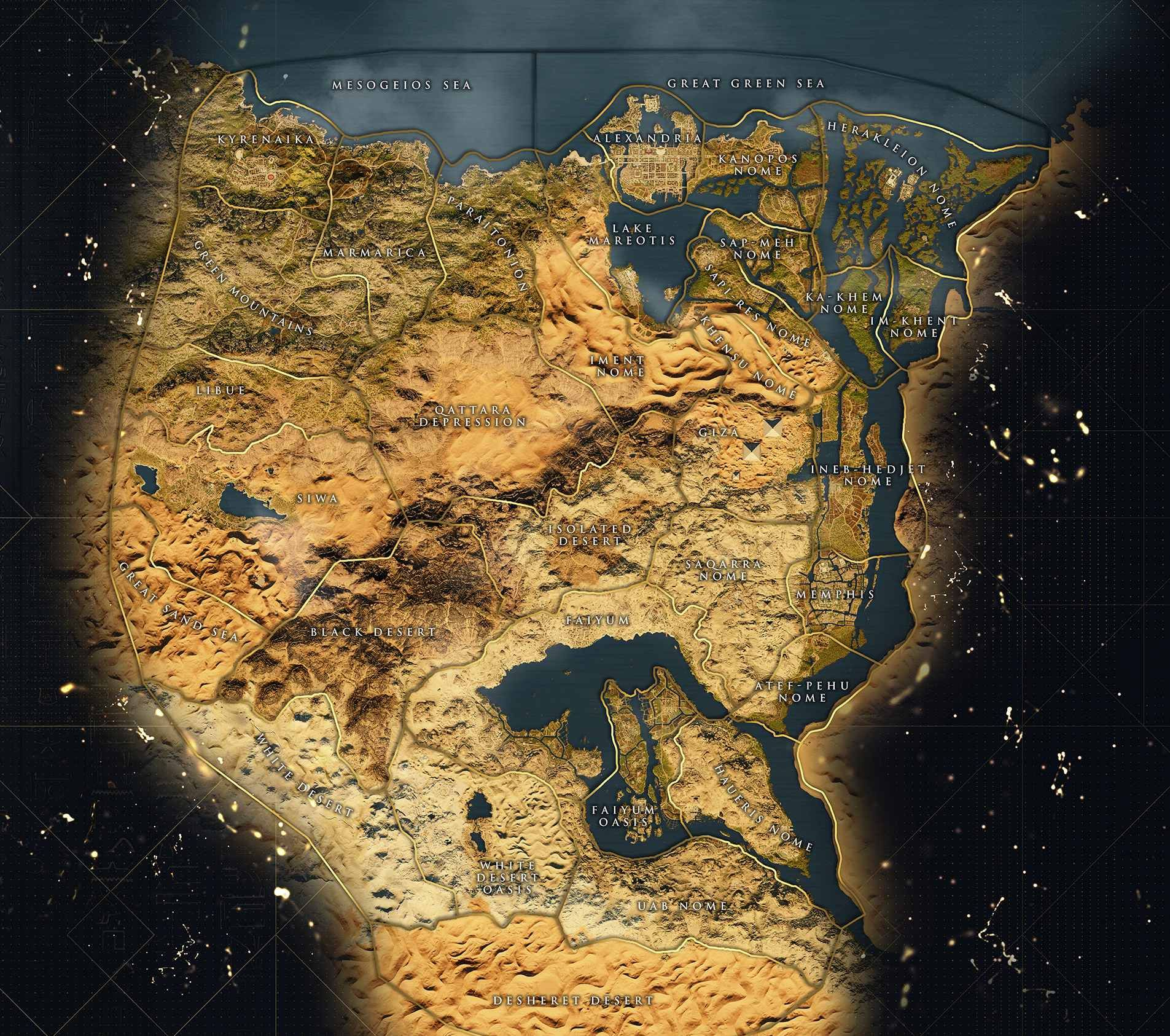 Image result for assassin's creed origins map