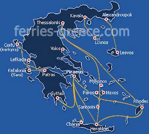 Ferries and Boats to Kythira and Antikythira Islands greek islands