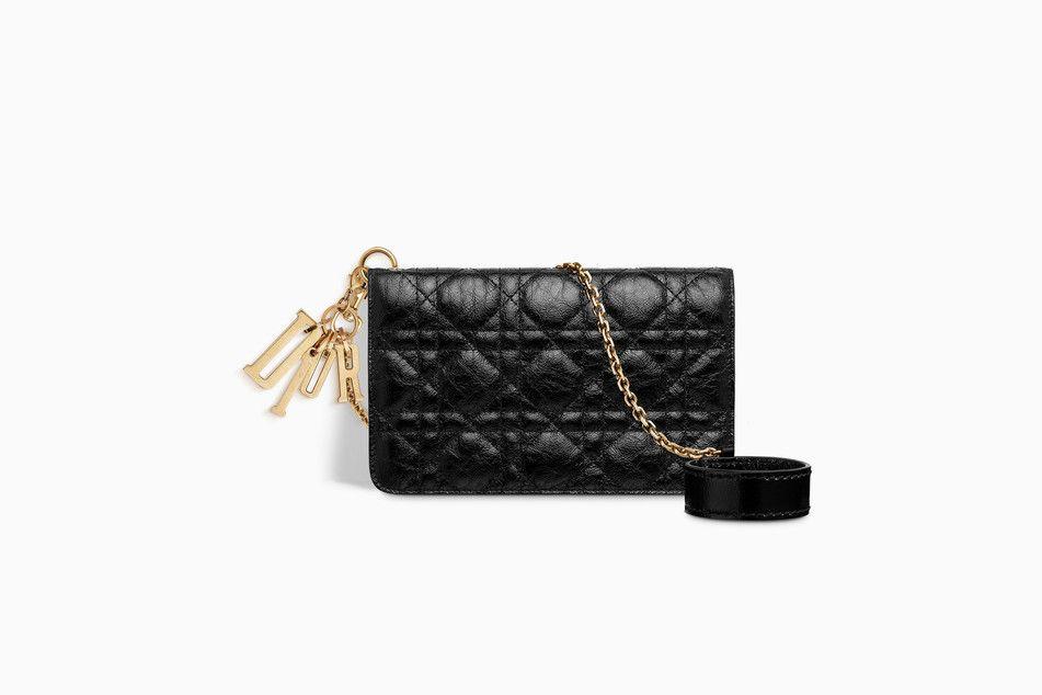 5017e72143 LADY DIOR BIKER CLUTCH IN BLACK CRINKLED CANNAGE CALFSKIN - Lady Dior Dior