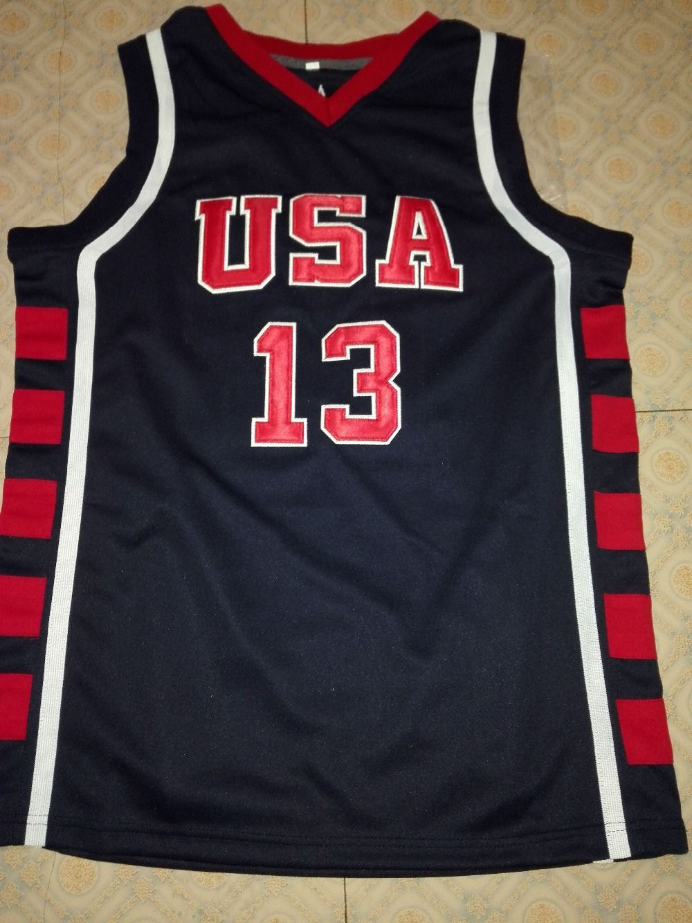new concept c8494 88f38 6 TRACY McGRADY #13 Tim DUNCAN #4 ALLEN IVERSON Team USA ...