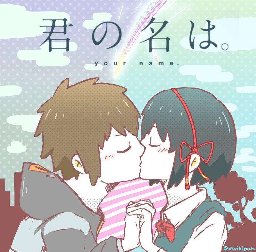 Taki X Mitsuha By Dwikipan Deviantart Com On Deviantart Anime Baby Anime Kimi No Na Wa