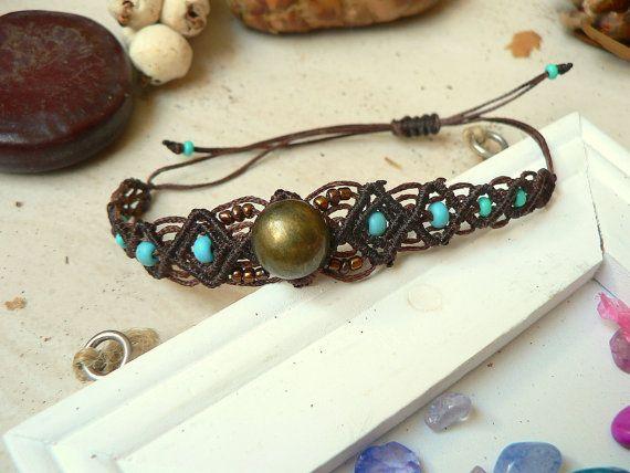micro macrame handmade bracelet, micro macrame jewelry, native bohemian tribal boho hippie gypsy jewelry