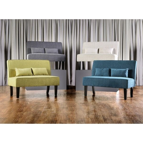 Furniture Of America Amirsa Modern Upholstered Armless Loveseat Bench |  Overstock.com Shopping   The