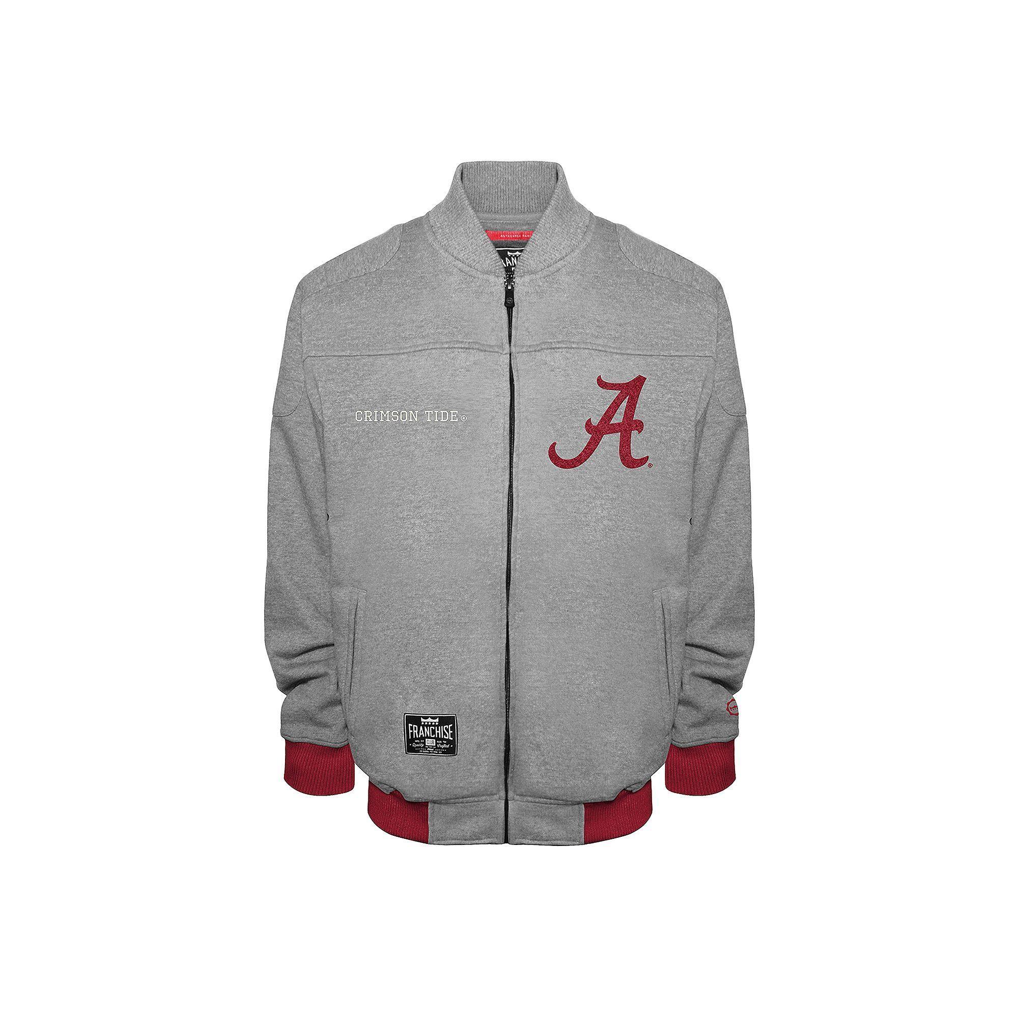 d2e7215a2 Men's Franchise Club Alabama Crimson Tide Edge Fleece Jacket, Size ...