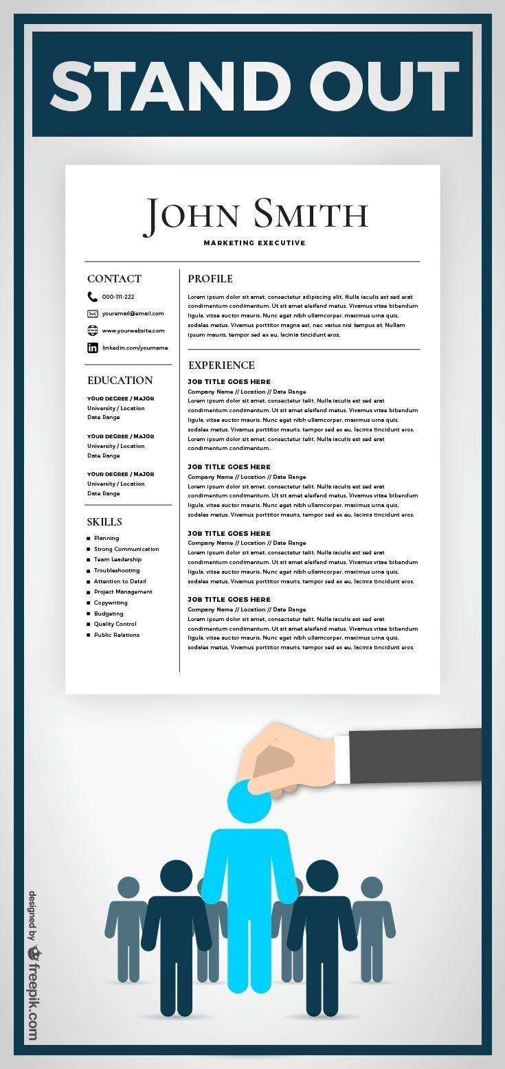 Microsoft Word Resume Template For Mac Cool Resume Template  Cv Template With Cover Letter  Ms Word On Mac .
