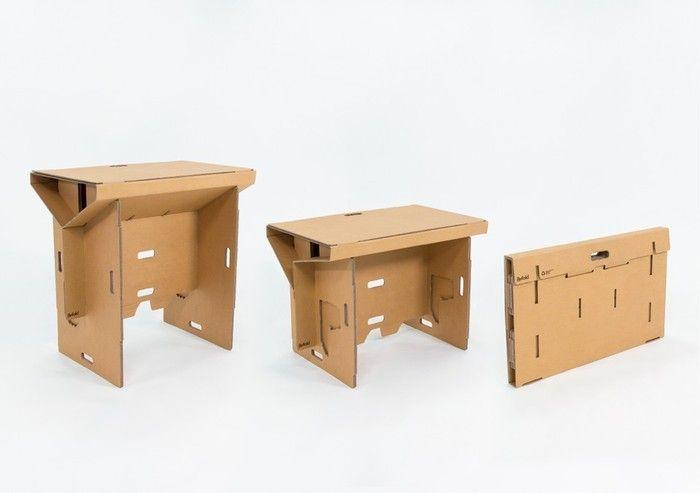 Le Bureau En Carton Portatif Bureau Amovible Bureau Design Bureau Pliable