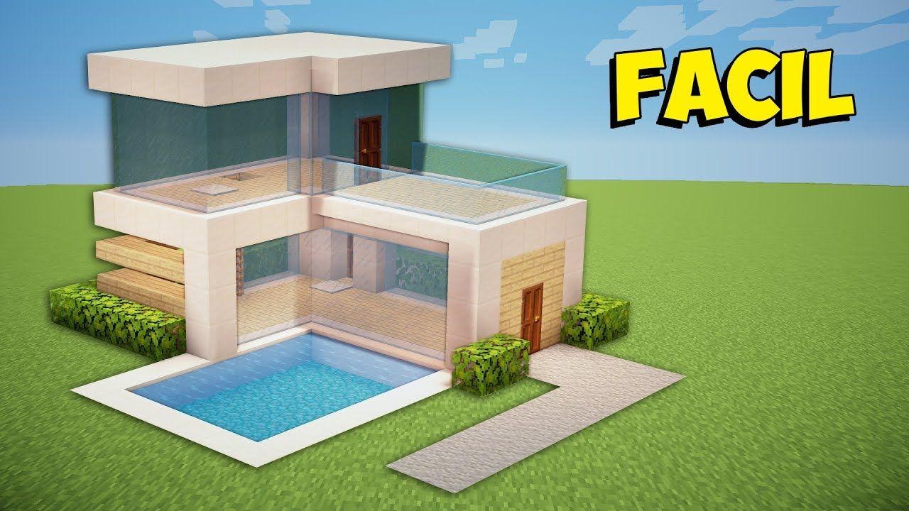 Minecraft Como Fazer Uma Pequena Casa Moderna Com Imagens